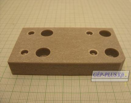 Keramik-Isolierplatte unten passend für W-Serie 73 x 39 x 12 mm