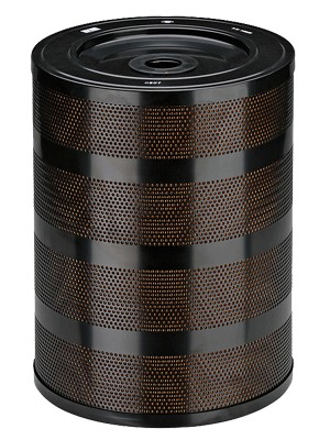 Szűrő 340x47,5x450 mm fémpalástos 3-5 mikr.