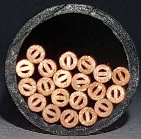 Copper start hole tube, Multichannel 2,0x300 mm
